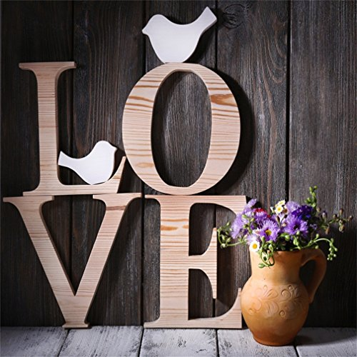8' Clear Letters - CSFOTO 8x8ft Background for Decorative Letters Forming Word Love with Wildflowers Photography Backdrop Lover Valentine's Day Rustic Wood Wedding Anniversary Photo Studio Props Vinyl Wallpaper