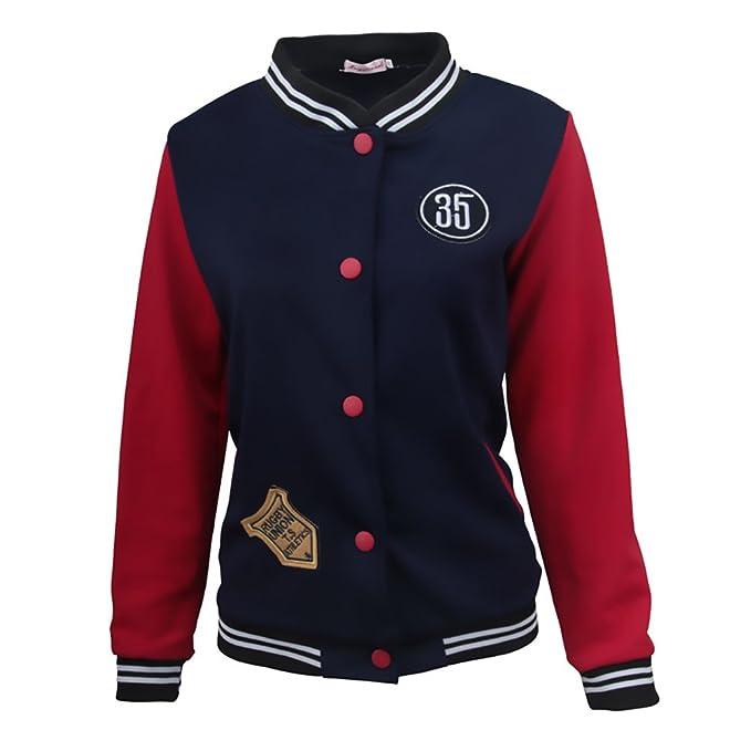 Mujer Chaquetas Universitarias Invierno Otoño Béisbol Varsity Deporte Casual Jacket Clásico Especial Abrigos Elegantes Manga Larga Slim Fit Stand Cuello Con ...