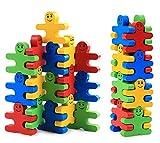 Develops Fine Motor Skills & Hand-Eye Coordination, Wooden Balance Stacking Blocks -- Human Shaped Building Blocks Puzzle Balance Game