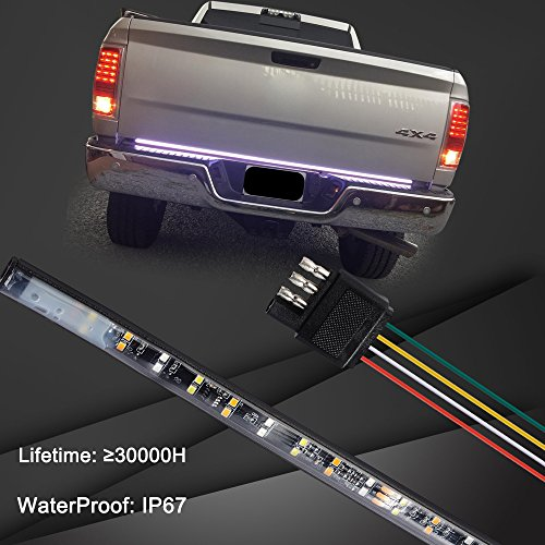 60-Inch 2-Row LED Truck Tailgate Light Bar Strip Red//White Reverse Brake Stop...