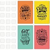 Set of 4 Inspiring and Positive Posters with a Special and Unique Design to Make your Place an Environment of Good Vibes - Art Decor with Double Sided Mounting Tape - 11 x 17 Inches, 1mm Thick