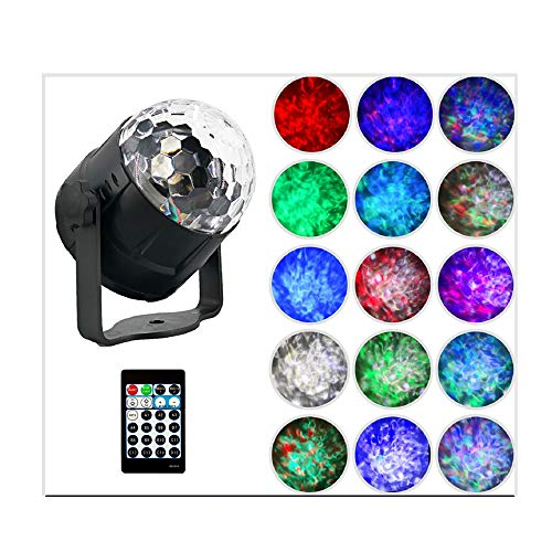 Wanzi2 2019 New RGBW 9W 4LED 15 Colors Ball Light DJ DVDs Airship Projector Lamp Stage Effect Light,Best for Pub, Club, Do,Show, Disco, Bar, Home Party, Ballroom, Bands and Etc (As Shown)