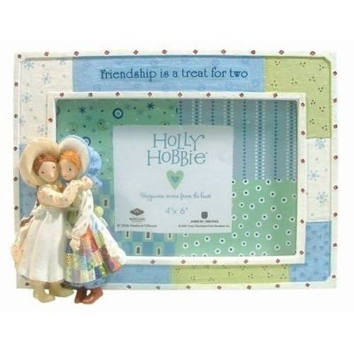Westland Giftware Holly Hobbie Picture Frame Photo Two Best Friend Doll Friendship Is A Treat Resin Horizontal Vintage Retro 1970s Look 4 by 6 ()