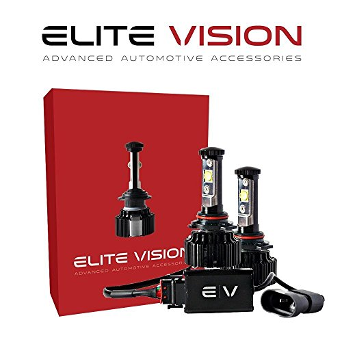 - Elite Vision Advanced Automotive Accessories - Elite LED Conversion Kit 9006 / HB4 for Bright White Headlights Bulbs, Low Beams, High Beams, Fog Lights