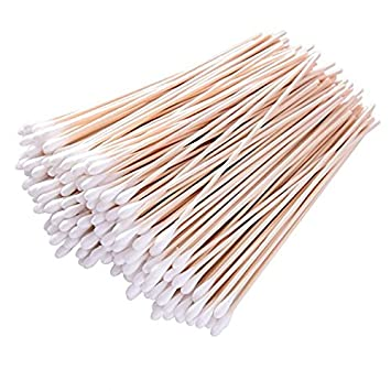 Cotton Swabs with Wooden Handle, 400 ct Double Tipped Cotton Swabs zhejiang kangmin Co. Ltd.