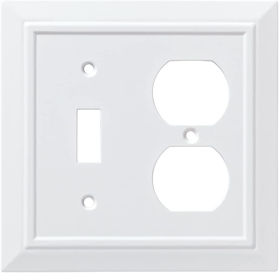 Franklin Brass W35245-PW-C Classic Architecture Switch/Duplex Wall Plate/Switch Plate/Cover, White