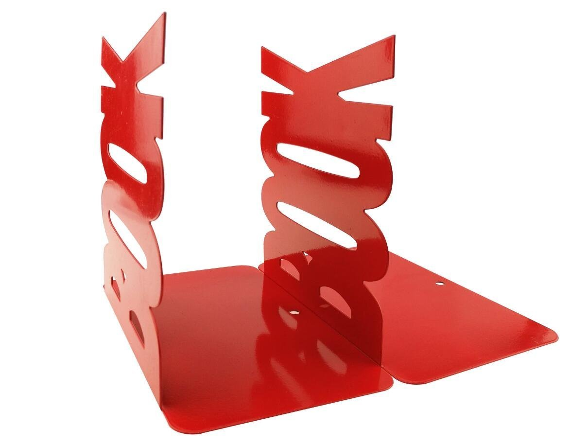 Ahkea Book Modeling Bookends For Kids Children Bedroom Library School Office (Red)