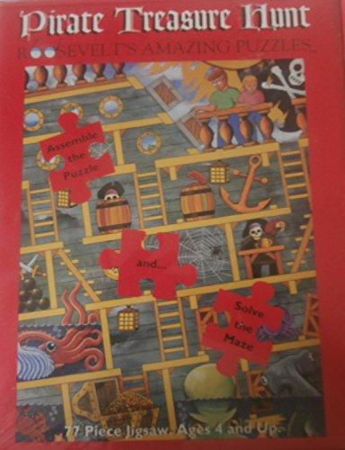 Double Maze Puzzle (Pirate Treasure Hunt Puzzles and Maze (Double puzzle and maze))