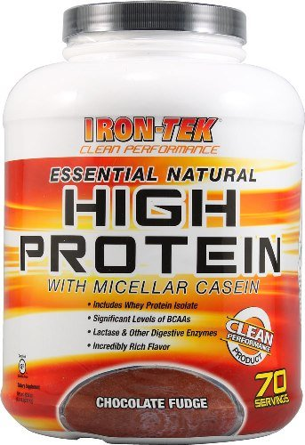 UPC 666999137303, Iron-tek Essential Natural High Protein, Chocolate Fudge, 5.8-Lb. Jar