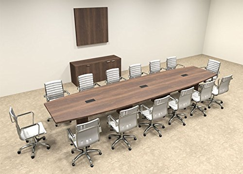 Modern Boat Shaped 16' Feet Conference Table, #OF-CON-C74