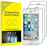 iPhone SE Screen Protector, JETech 3-Pack iPhone 5S 5C 5 SE Tempered Glass