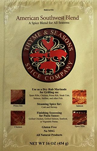 Chicken Style Southwest - Thyme & Seasons Gourmet American Southwest Spice - Dry Rub Marinade, Seasoning, Grilling, Barbecue, Premium Sauces, Dressing, Smoking Meats - 16 oz
