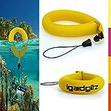 iGadgitz 1 Pack Standard Yellow Waterproof Floating Wrist Strap suitable for Underwater/Waterproof: Cameras, Video cameras, cases & housing, Marine binoculars + Waterproof Sony phones