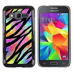 Caucho caso de Shell duro de la cubierta de accesorios de protección BY RAYDREAMMM - Samsung Galaxy Core Prime SM-G360 - Hippie Psychedelic Universe Colors