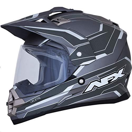 AFX FX-39 Dual Sport Series 2 Multis Helmet Frost Gray/Carbon (Gray, XX-Large)