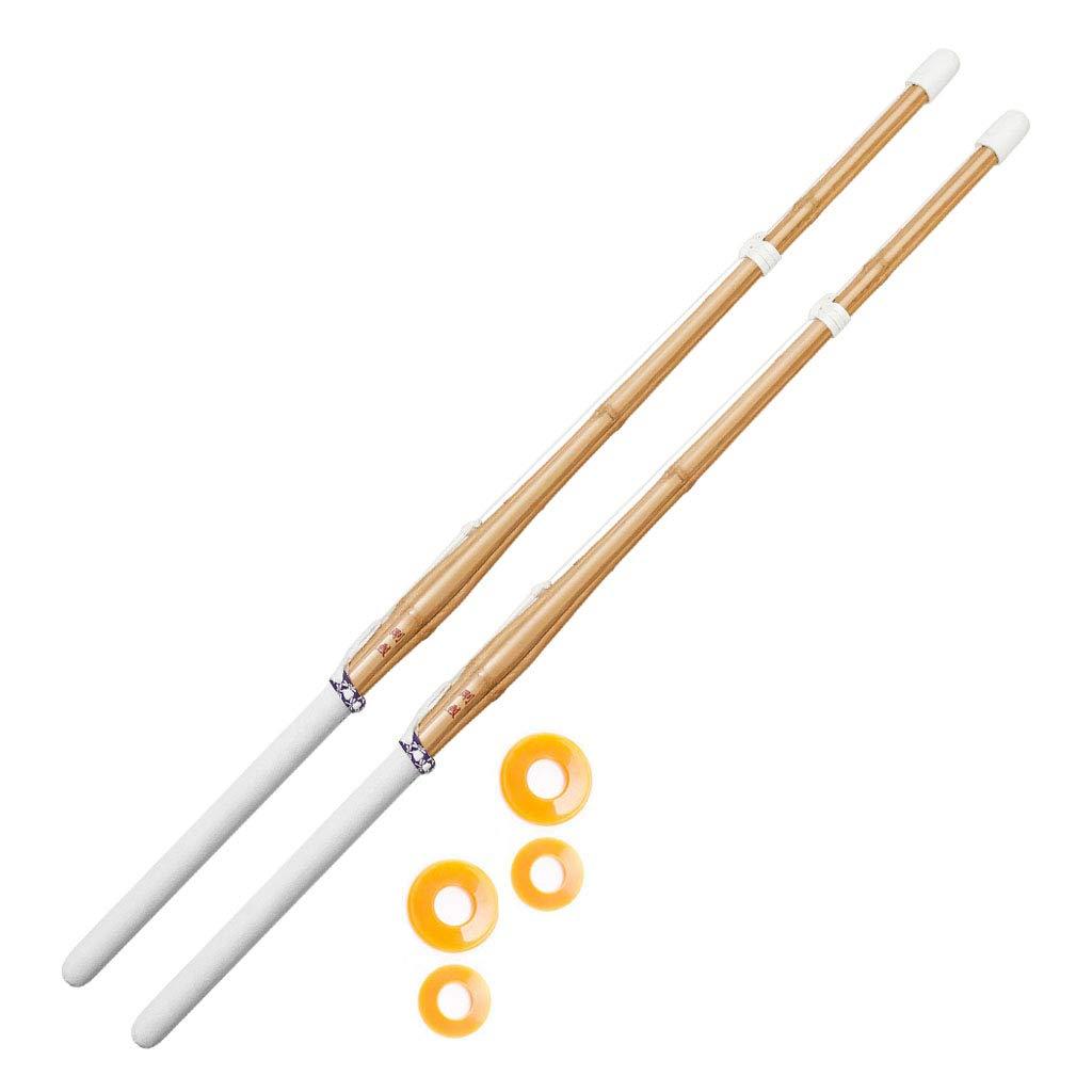 KENDOSOUL 47'' Kendo Shinai Bamboo Practice Sword Katana Set of 2 by KENDOSOUL