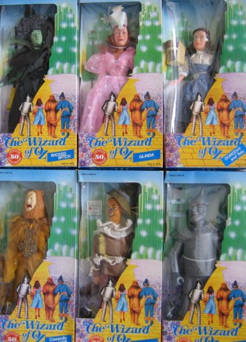 Tinman Costume Scarecrow And (The Wizard of Oz 50th Anniversary DOLL SET of 6 Dolls w Dorothy, Wicked Witch, Glinda, Scarecrow, Tin Man & Cowardly Lion Dolls (1988 Multi Toys) by The Wizard of)