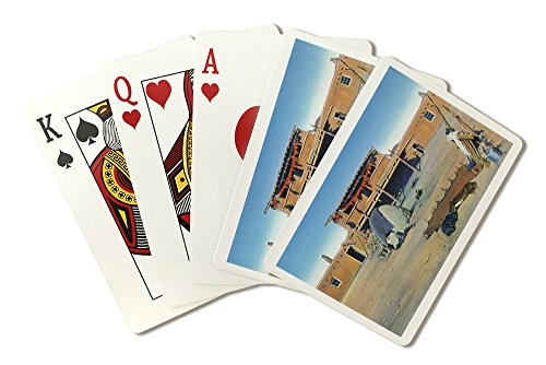 Indian Dwelling (New Mexico - View of a Typical Pueblo Indian Dwelling (Playing Card Deck - 52 Card Poker Size with Jokers))