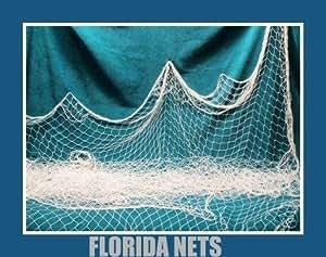 Two 6 x 9 fishing net netting nautical display for Amazon fishing net