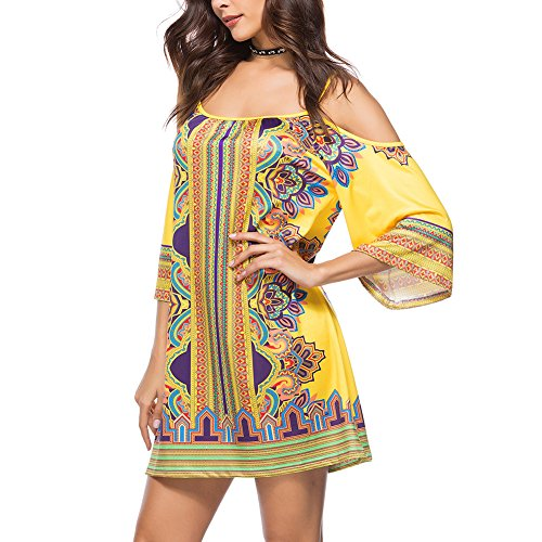 Faldas Largo Elegante Ishine Un Amarillo Regalo Mujer Vestido Como ftqtw6g