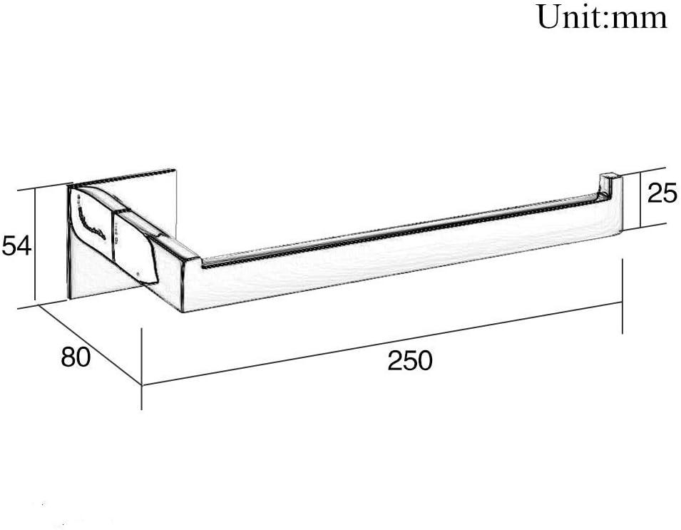 Homovater Accesorios para ba/ño Autoadhesivo Acero inoxidable SUS 304 Sujetador de papel de ba/ño