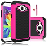 Core Prime Case, EC™ [Shock Absorption] High Impact Resistant Hybrid Armor Dual Layer Protection Defender Case Cover for Samsung Galaxy Core Prime (G360)/ Prevail LTE (Hot Pink/Black)