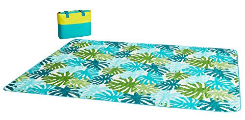 Spring Pattern Oxford - APE AOPEIER Picnic Outdoor Camping Blanket Mat with Soft Polyester Taffeta and Waterproof 600D Oxford Machine Washable - 3 Sizes in Variety of Patterns (Spring Birds, 47