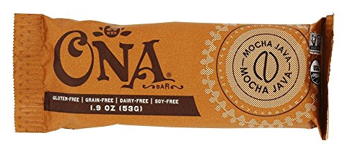 Ona - Gluten Free Organic Real Honey Treat Snack Bar Mocha Java - 1.9 oz.
