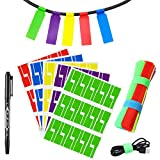 150 Cable Labels with Mark Pen, 5 Colors 5 Sheet