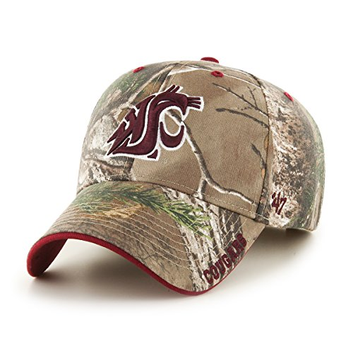 Washington State University Clothing (NCAA Washington State Cougars Realtree Frost MVP Adjustable Hat, One Size, Realtree)