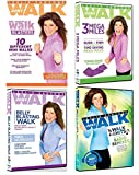 Leslie Sansone Exercise Collection Belly Blasting Walk / 3 Mega Miles / Mix & Match Walk Blasters / Walk To The Hits Radio Remixes (4-DVD Set +FREE Toning Band)