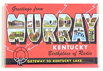 Greetings From Murray Kentucky Fridge Magnet (2 x 3 inches)