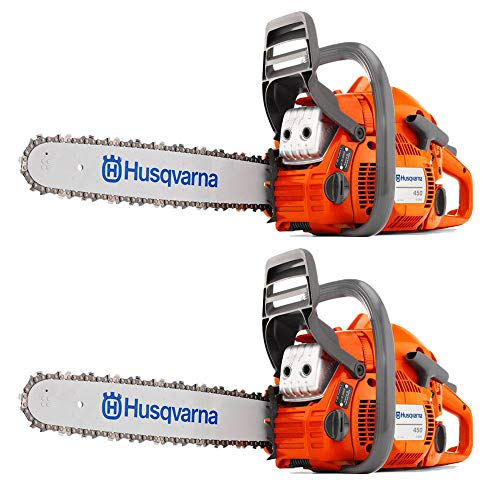 Husqvarna 450 20″ 50.2cc Gas Powered 2 Cycle Chainsaw (Certified Refurbished) (2 Pack)