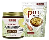 Pili Nut Keto Butter, Dark Cacao (4 oz) plus Sprouted Pili Nuts, Himalayan Salt (1.7 oz)