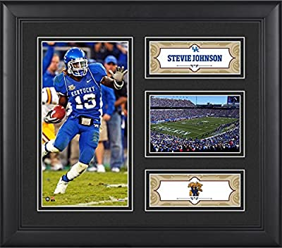 "Stevie Johnson Kentucky Wildcats Framed 15"" x 17"" Player Collage - Fanatics Authentic Certified - College Player Plaques and Collages"