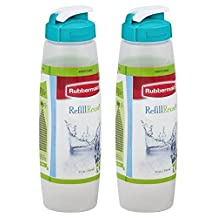 Rubbermaid 3163 Sippin Sport Chugg Bottle 32 Oz (2-Pack)