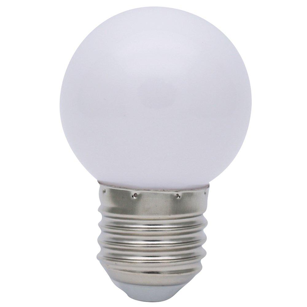 10X E27 Bombilla Blanco 1W Bombilla de Color Ahorro de Energía Color Bombilla LED 100LM Conveniente para Decoración Bulbo Llevado AC 220V: Amazon.es: ...