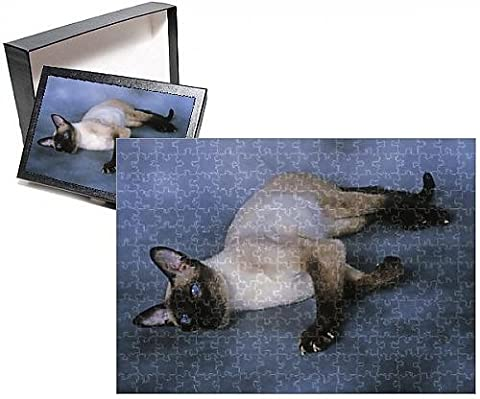 Photo Jigsaw Puzzle of Cat - Siamese Seal Point - Lying down - Seal Point Siamese Cats