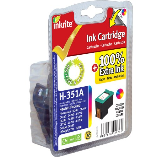 Inkrite NG Ink Cartridges (HP 351) for HP PhotoSmart C4280/C5280 - CB337EE Colour
