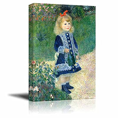 Girl With Watering Can by Renoir - Canvas Print