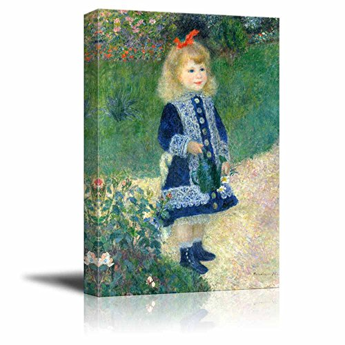 A Girl with a Watering Can by Auguste Renoir - Canvas Print Wall Art Famous Painting Reproduction - 12