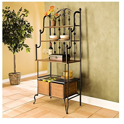 Upton Home Augusta Black Metal Baker's Rack by Upton Home