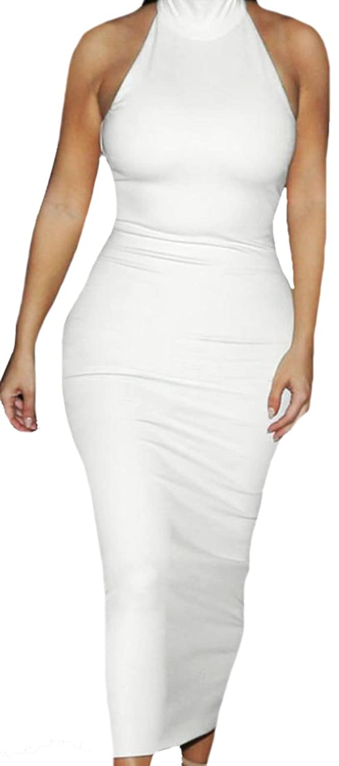 ASL Women's Slim Fit Sexy Cocktail Bodycon Sleeveless Dress