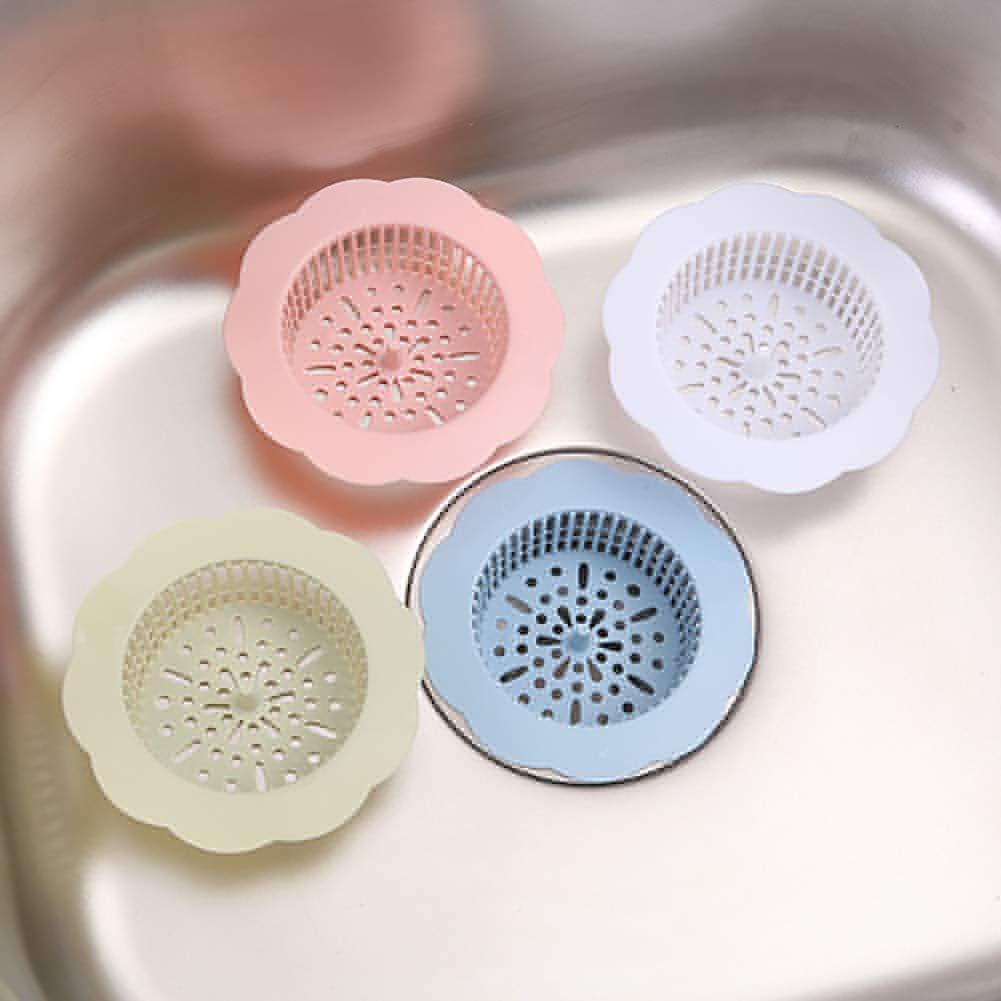 colador de residuos azul P12cheng Colador de fregadero filtro de drenaje para fregadero de cocina forma de flor