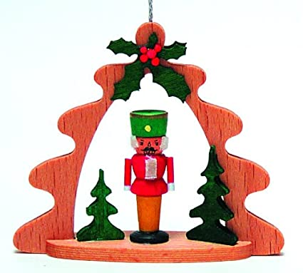 pinnacle peak trading company nutcracker forest german wood christmas ornament decoration made in germany new