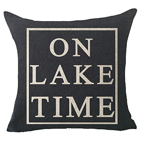 FELENIW On lake time Throw Pillow Cover Cushion Case Cotton Linen Material Decorative 18