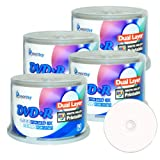 Smartbuy 8.5gb/240min 8x Dvd+r Dl Dual Layer White Inkjet Printable Blank Data Recordable Disc Spindle (200-Disc)