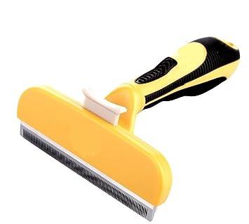 Herramienta de deshedding ANSCIO Peine de gato para perro, cepillo de peluquería, cepillo de