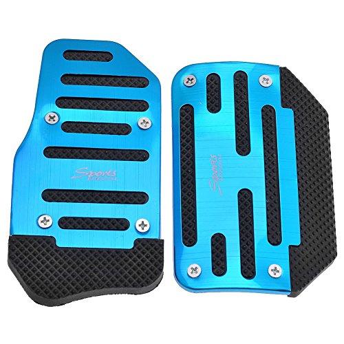 - Yoption Automatic Car Auto Non Slip Sports Aluminium Alloy Automatic Car Auto Vehicle Pedal Foot Treadle Foot Brake Cover Pad 2pcs/set (Blue)