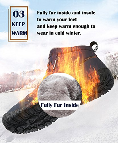 IceUnicorn Neve da Scarpe Invernali Donna Uomo Allineato Lace Oro Up Stivaletti Pelliccia Boots Scarpe Sportive Stivali Inverno Caloroso rHgwtrqx